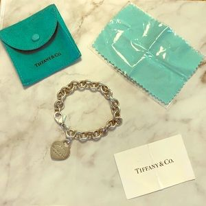 Tiffany & Co. Heart Charm Bracelet 925